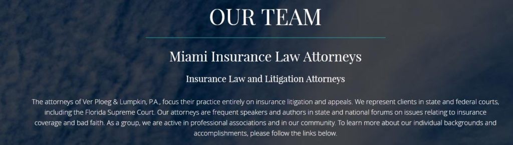 Miami Insurance Law Attorneys