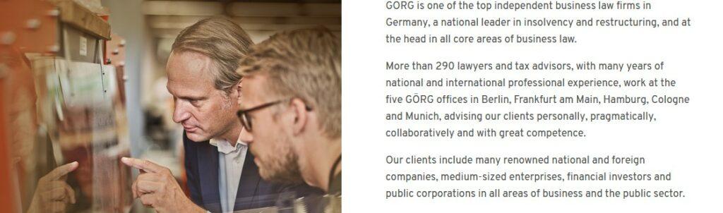 Gorg German lawyers