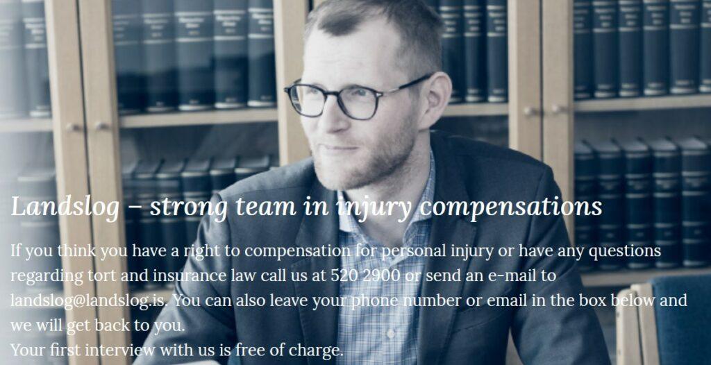 Landslog personal injury lawyers Iceland