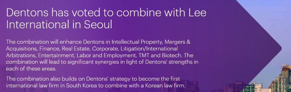 Denton, South Korea business lawyers